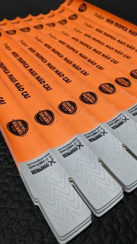 Imagem 1 de 4 de Pulseira Identificação Nylon Impressão Simples . 1000 Unids