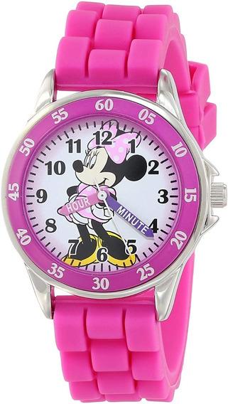 Reloj Analógico De Minnie Mouse Para Niñas 33mm