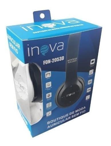Fone De Ouvido Estéreo Headphone Inova Com Microfone