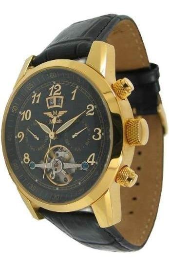 Relógio Minoir Banhado A Ouro