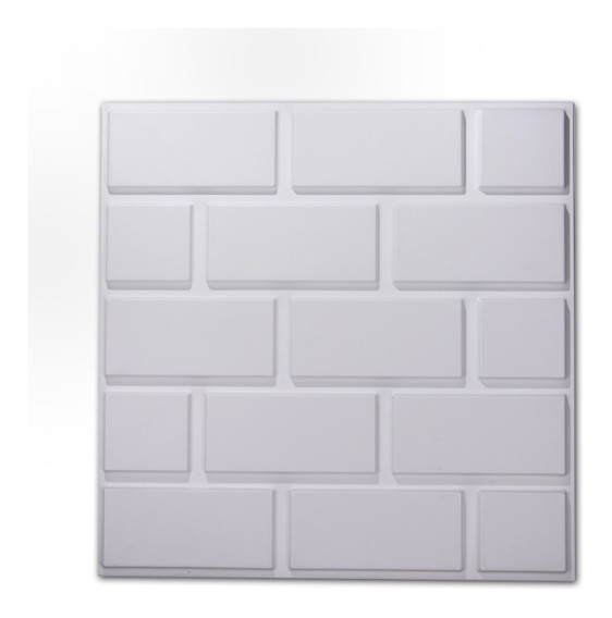 Panel 3d Pvc Placa Pared Revestimiento 50x50 Ladrillos Lisos