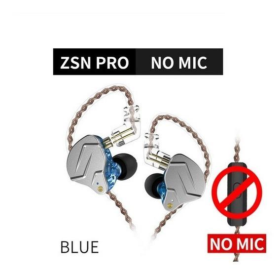 Fone De Ouvido In Ear Kz Zsn Retorno Palco Monitor Sem Mic