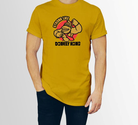 Playera Donkey Kong Strong Hombre Caballero P