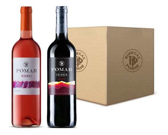 Vino Rosado Pomar (3 Bot) /tinto Crianza Pomar (3 Bot) 0,75l