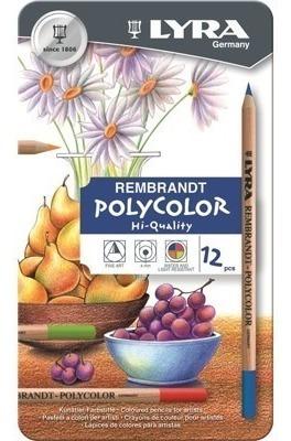 Lapices Para Artista Lyra Rembrandt Polycolor Lata X 12u