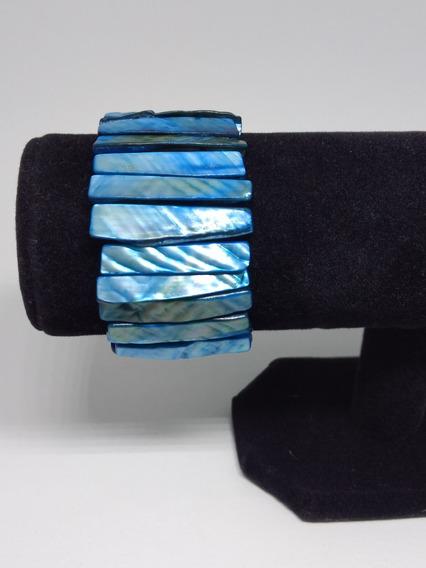 Bracelete Feminino Pulseira Pedra Natural Madre Pérola Joia