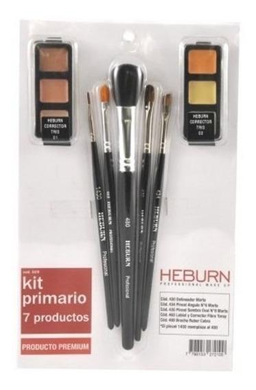 Kit Primario Heburn Profesional Make Up 7 Productos