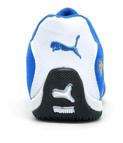 Tênis Puma Ferrari Me Branco E Azul