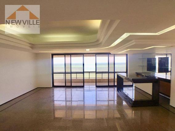 Apartamento Com 4 Quartos Para Alugar, 363 M² Por R$ 11.200/mês - Boa Viagem - Recife/pe - Ap1283