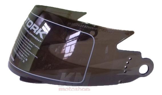 Viseira Capacete V-pro Jet 1 / 2 / 3 Escamoteável Cristal Ou Fumê 2mm Original Pro Tork