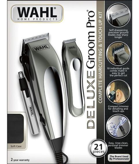 Maquina De Cortar Wahl Deluxe Groom Pro 21 Peças 110v