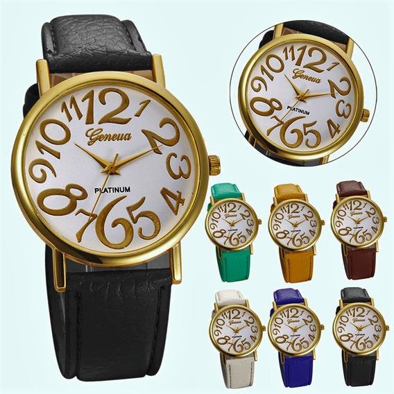 Relógio Feminino Dourado Branco
