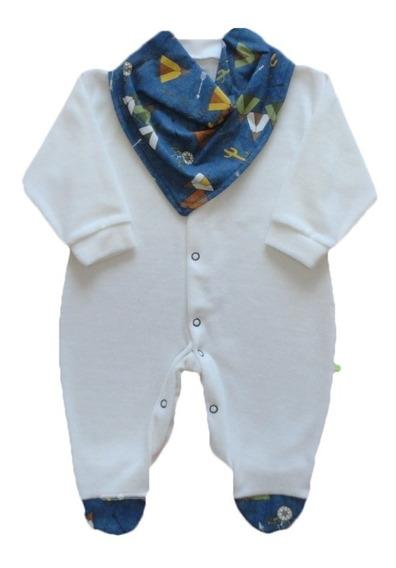 Macacão Bebê Menino Plush Com Bandana