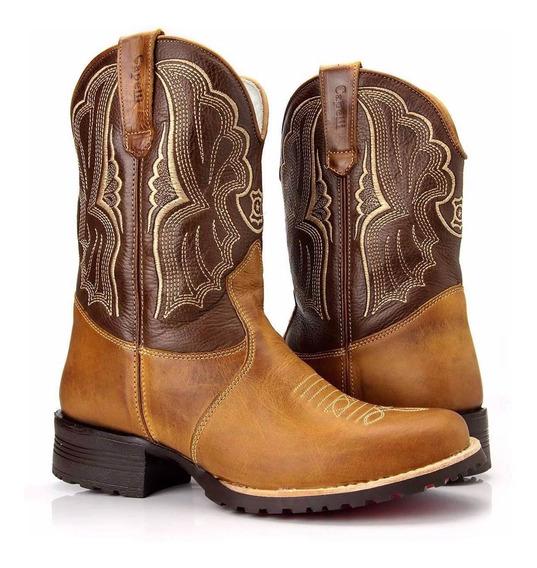 Bota Texana Feminina Country Montaria Confort Capelli Boots