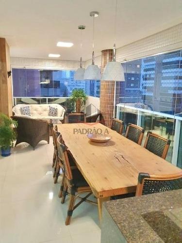 Apartamento Em Condomínio Padrão Para Venda No Bairro Tatuapé, 03 Dorm, 03 Suíte, 04 Vagas, 185,00 M²,lindo Apartamento Com Varanda Gourmet, Alto Padrão. - 1717