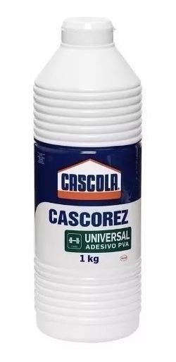 Cola Adesiva Pva Branca Cascorez Universal 1kg Emb. 4 Peças