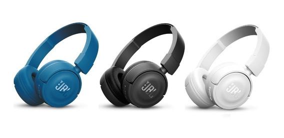 Fone Ouvido Jbl T450 Preto Azul Preto Headphone Microfone.