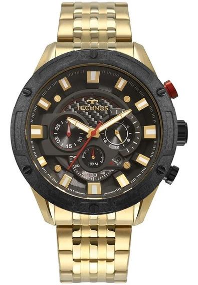 Relógio Masculino Technos Cronográfo Dourado Js25ce/4p