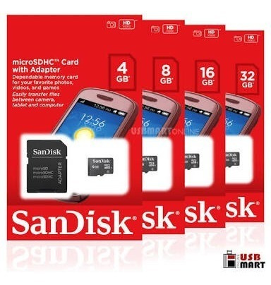Memoria Micro-sd 4gb. Sandisk Class4