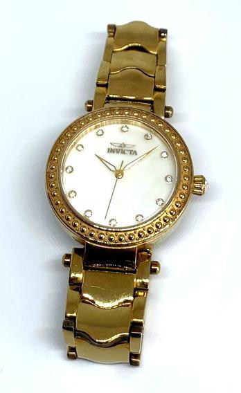 Reloj Invicta Para Dama Dorado Con Brillos