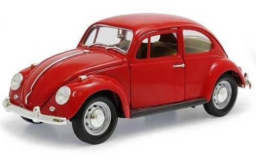 1967 Volkswagen Fusca Beetle Vermelho - 1:18 - Yat Ming