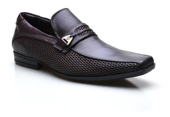 Sapato Social Masculino Em Couro Calvest Tradicional Texturizado