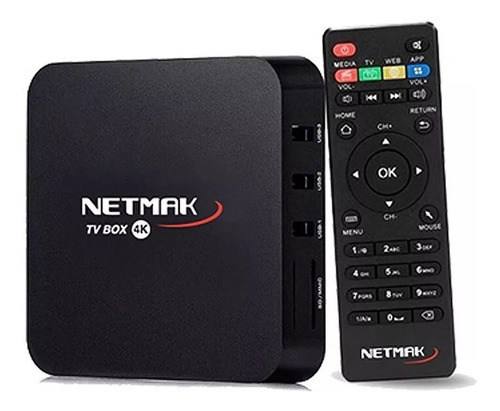 Conversor Smart Netmak Nm Tvbox1 8gb Android 1gb Ram Tv Box