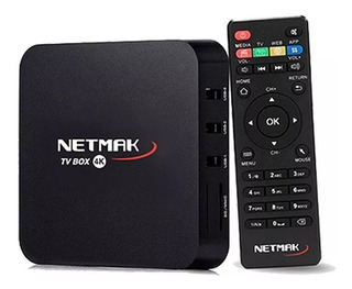 Conversor Smart Netmak Nm Tvbox1 8gb Android 1gb Ram Tv Box
