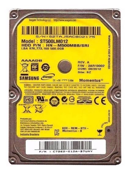 Hd Samsung 500 Gb Sata 2.5´ 5400rpm P/ Notebook