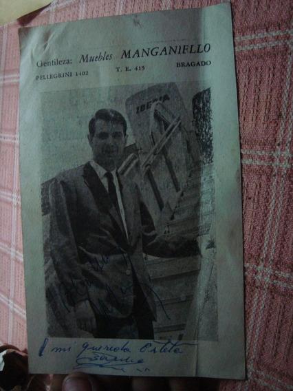 Tarjeta Postal Publicitaria Juan Ramón 9x14 Dedicada
