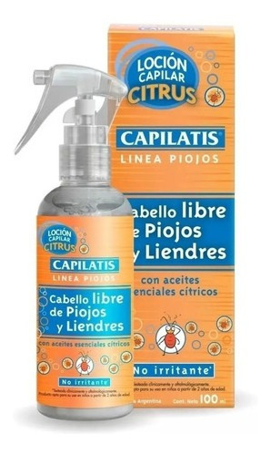 Capilatis Loción Citrus Cabello Libre De Piojos 100 Ml