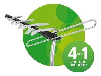 Antena Externa 4 Em 1 Para Tv Intelbras Ae 4010