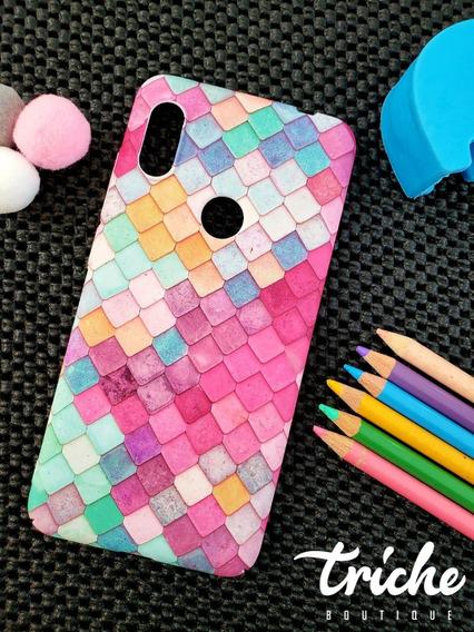 Funda Mosaico Colores Sirena Dama Xiaomi Redmi Note 6 Pro