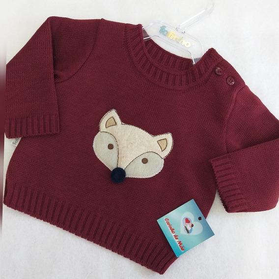 Blusa Infantil Em Tricô Fox - Fofinho