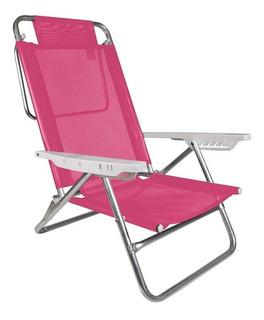 Cadeira Alumínio Reclinável Summer 6 Posições Praia - Mor