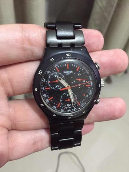Relógio Swatch Black Coat
