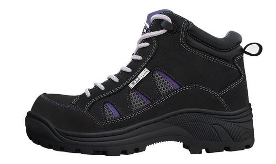 Zapato Bota Industrial Para Dama - Terra - L - Wsm Plus