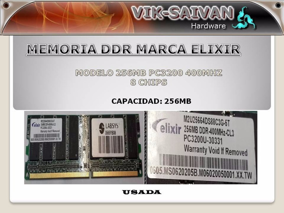 Memoria Ddr Elixir 256mb Pc-3200 400mhz 8 Chips 34