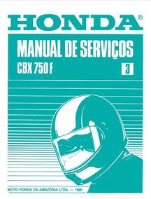 Manual De Serviço Honda Cbx750f