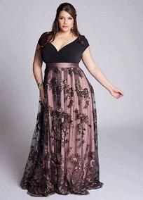 Vestido De Festa Plus Size La Bela Rosa