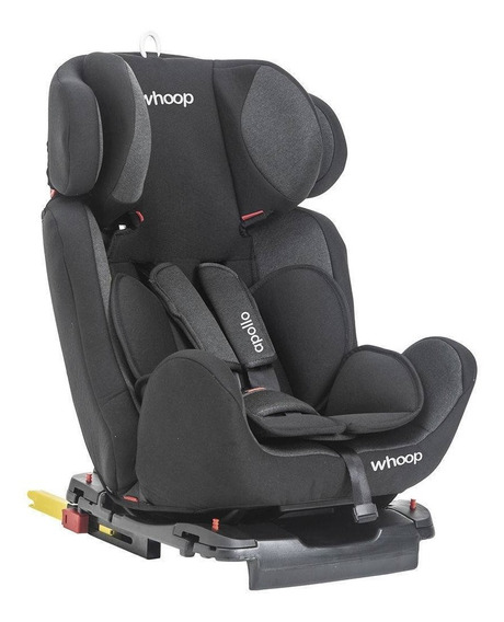 Cadeira Para Carro Apollo Preto Whoop Kiddo 0 A 36 Kg Isofix