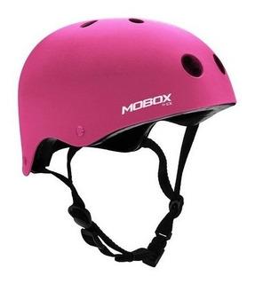 Casco Protector Mobox Monopatin Adulto Rosa