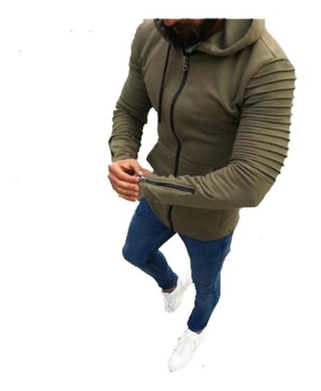 Campera Hoodie Hombres Modelo Importado Entallado A03