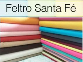 Kit De Feltro Com 50 Cores 30 X 70 Santa Fé Promoção!!