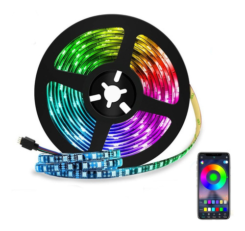 Tira Led Bluetooth 6.5 Ft/2m Luces Led Controlada Por App