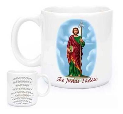 Imagem 1 de 2 de Canecas Religiosas São Judas Tadeu Com Oração 588