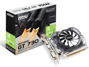 Placa De Vídeo Geforce Nvida Gt 730 2gb Ddr3 128 Bits