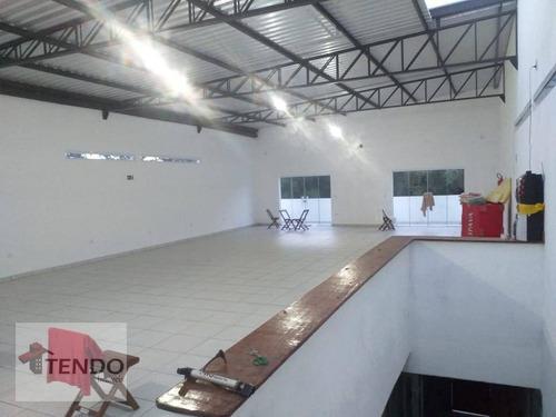 Imagem 1 de 19 de Imob03 - Salão Para Alugar, 180 M² Por R$ 2.300/mês - Somma - Ribeirão Pires/sp - Sl0026