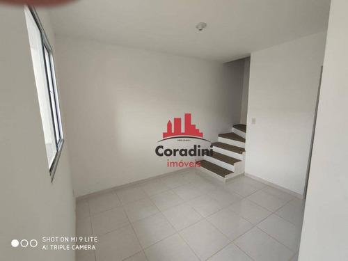 Imagem 1 de 12 de Casa Com 2 Dormitórios À Venda, 62 M² Por R$ 210.000,00 - Jardim Santa Rita I - Nova Odessa/sp - Ca2453