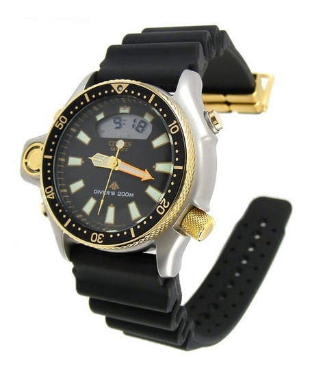Relógio Citizen Masculino Aqualand Jp2004-07e Ouro Gold